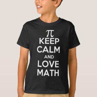 Pi keep calm and love math slogan T-Shirt