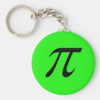 Pi Keychain Green