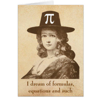 Pi Lady Dreams Card