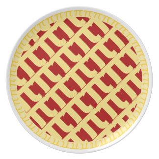 Pi Lattice Pie Plate - Brown/Red