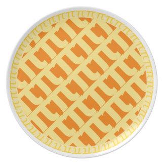 Pi Lattice Pie Plate - Pumpkin Pie