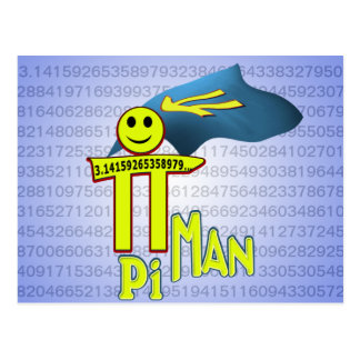 Pi MAN Postcard