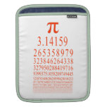 Pi Many Digits Number iPad Sleeves
