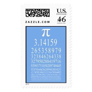 Pi Many Digits Number Postage