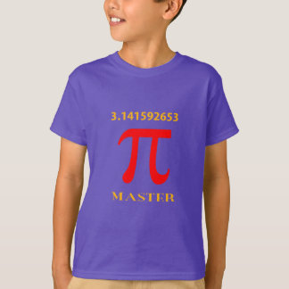 Pi Master, Pi Symbol and Value T-Shirt
