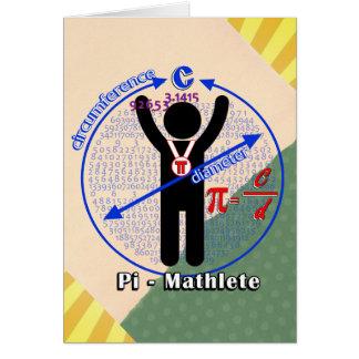 Pi-Mathlete 3.14 Pi Day Greeting Card