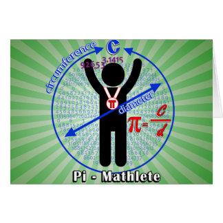 Pi-Mathlete 3.14 Pi Day Card
