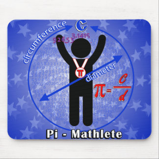 Pi-Mathlete 3.14 Pi Day Mouse Pad