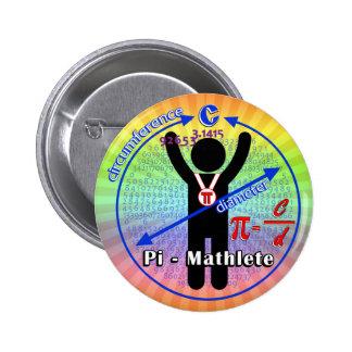 Pi-Mathlete 3.14 Pi Day Pinback Button