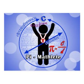 Pi-Mathlete 3.14 Pi Day Post Cards