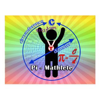 Pi-Mathlete 3.14 Pi Day Post Card