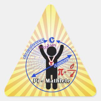Pi-Mathlete 3.14 Pi Day Triangle Sticker
