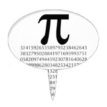 Pi Number Cake Toppers | Zazzle