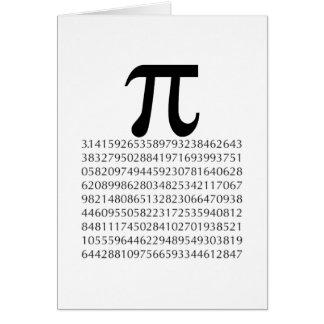 pi  maths greeting card