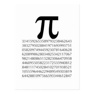 pi  maths postcard