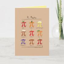Pi Menu - Pi Day Math Greeting Card