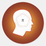 Pi mind - math sticker
