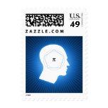 Pi Mind on blue background - Postage
