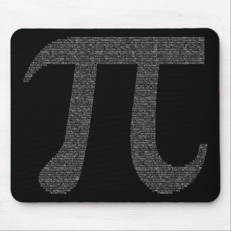 """""""Pi"""" Mousepad Black"""