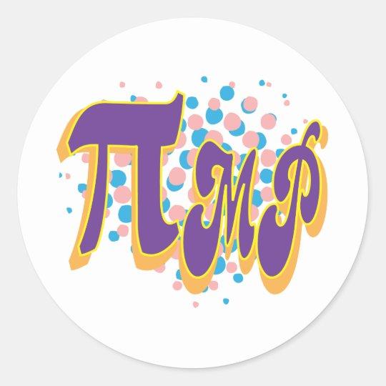 Pi-mp Classic Round Sticker