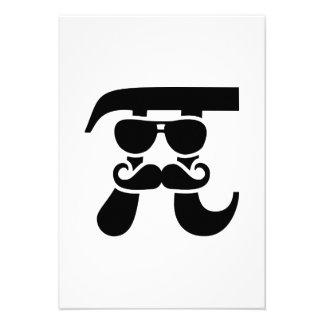 Pi Mustache sunglasses Invitation