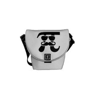 Pi Mustache sunglasses Messenger Bags