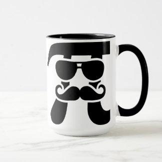 Pi Mustache sunglasses Mug
