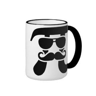 Pi Mustache sunglasses Ringer Mug