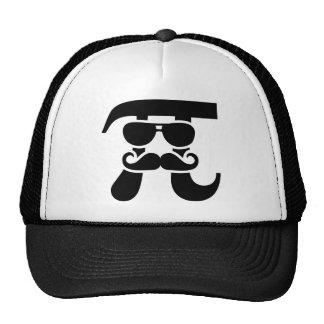 Pi Mustache sunglasses Trucker Hat
