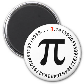 Pi Number Design 2 Inch Round Magnet