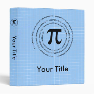 Pi Number Design 3 Ring Binder