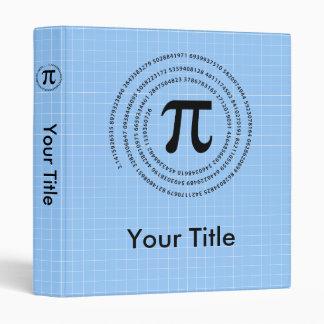 Pi Number Design 3 Ring Binder