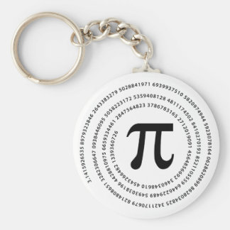 Pi Number Design Basic Round Button Keychain