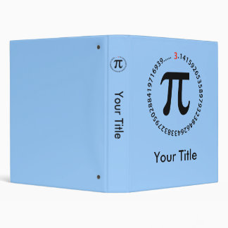 Pi Number Design Binder