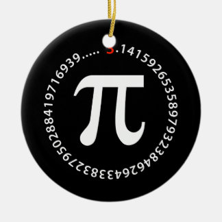 Pi Number Design Ceramic Ornament
