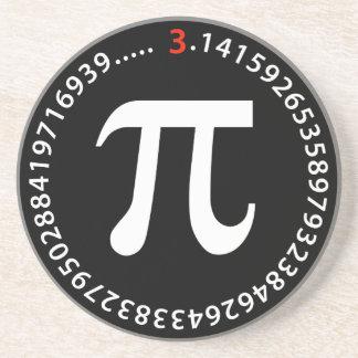Pi Number Design Beverage Coasters