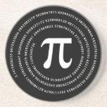 Pi Number Design Drink Coaster