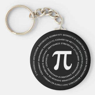 Pi Number Design Keychain