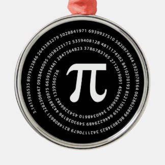 Pi Number Design Metal Ornament