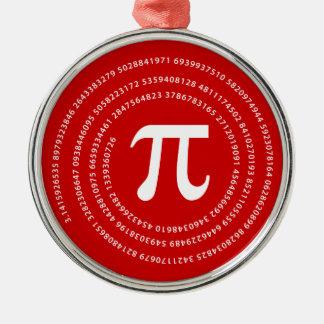 Pi Number Design Metal Ornament