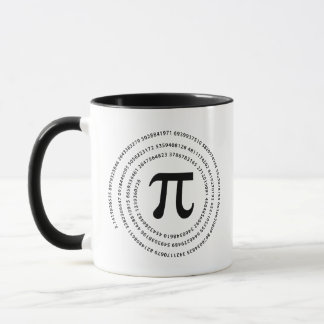 Pi Number Design Mug