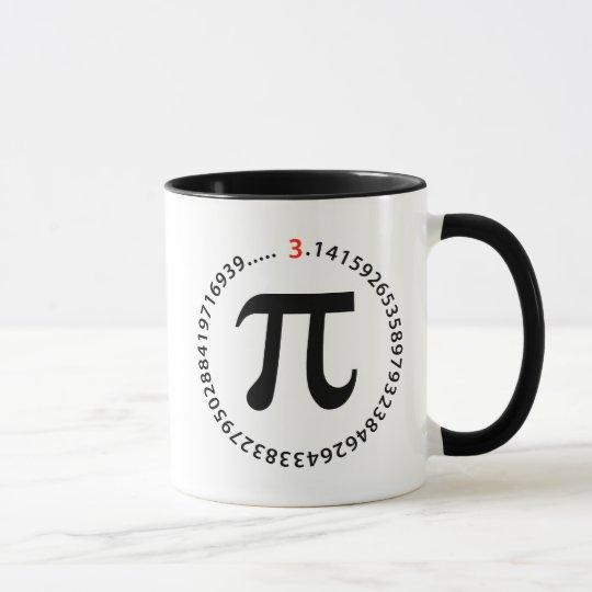 Pi Number Design Mug
