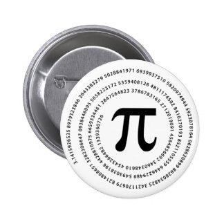 Pi Number Design Pinback Button