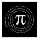 Pi Number Design Poster