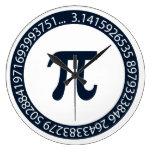 Pi Number Design Wall Clock
