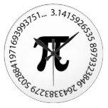 Pi Number Design Wallclock