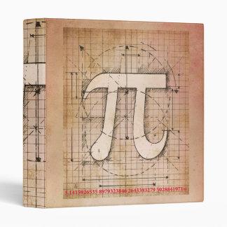 Pi Number Drawing 3 Ring Binders
