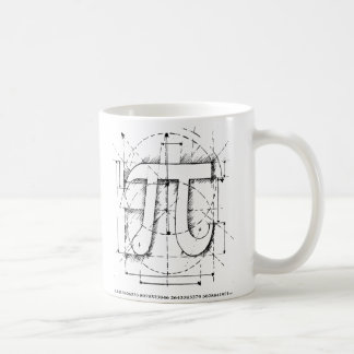 Pi Number Drawing Classic White Coffee Mug