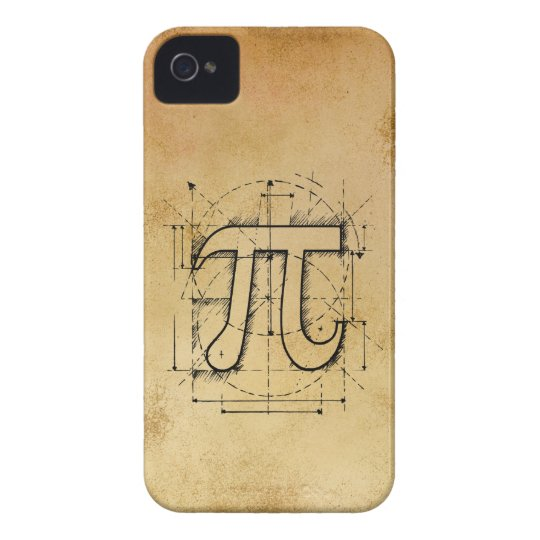 Pi Number Drawing iPhone 4 Cover