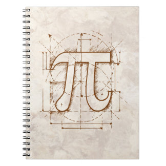 Pi Number Drawing Spiral Notebook